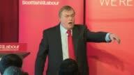 Gordon Brown and John Prescott speeches Lord Prescott speech SOT / Prescott posing with others