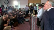 Hung parliament Northern Ireland results NORTHERN IRELAND Belfast INT Arlene Foster into press conference with other ten DUP MPs and standing with...