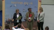 Hung parliament Theresa May to form new government East Sussex Hastings Amber Rudd winning seat in narrow victory at declartion announcement...