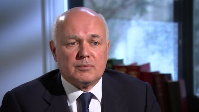 Iain Duncan Smith interview on Conservative manifesto ENGLAND London INT Iain Duncan Smith interview SOT