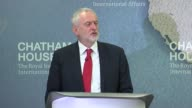 Jeremy Corbyn Chatham House speech on foreign policy Jeremy Corbyn speech SOT re foreign policy pacifism and war Syria