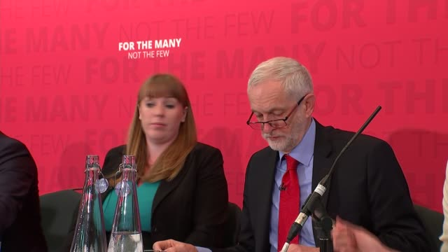 Jeremy Corbyn Church House cutaways ENGLAND London Church House INT Jeremy Corbyn arriving with Angela Rayner Baroness Angela Smith and Jon Ashworth...