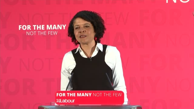 Jeremy Corbyn in York ENGLAND North Yorkshire York INT Chi Onwurah introduction SOT Jeremy Corbyn speech SOT re industrial strategy