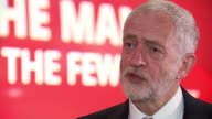 Jeremy Corbyn officially launches Labour campaign Manchester Jeremy Corbyn set up shot with reporter / interview SOT A banker should be investing in...