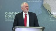 Jeremy Corbyn outlines foreign policy Chatham House INT Jeremy Corbyn speech SOT the war on terror which has driven these interventions has not...