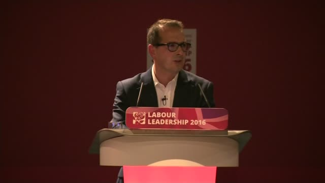 Jeremy Corbyn profile LIB / 1182016 ENGLAND Gateshead Owen Smith speaking at hustings event SOT