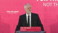 Jeremy Corbyn speech in Carlisle ENGLAND Cumbria Carlisle INT Jeremy Corbyn speech SOT re London Bridge attacks emergency services response...