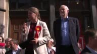 Jeremy Corbyn speech in York ENGLAND North Yorkshire York EXT Rachael Maskell introduction SOT