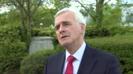 John McDonnell interview ENGLAND London Osterley Sky News EXT John McDonnell interview SOT re Labour policy on adding stamp duty to more financial...