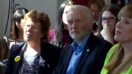 Labour Cutaways Jeremy Corbyn and Angela Rayner launch education policy ENGLAND West Yorkshire Leeds Jeremy Corbyn arriving with Rebecca LongBailey /...