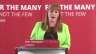 Labour Jeremy Corbyn Angela Rayner launch education policy Angela Rayner speech SOT re Labour education policy
