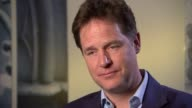 Liberal Democrats Nick Clegg interview re energy price cap ENGLAND London INT Nick Clegg interview SOT