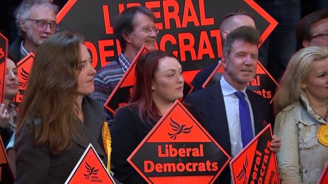 Liberal Democrats Tim Farron speech cutaways / general views Vauxhall CUTAWAYS Tim Farron arrival and speech Exterior of 'Fire' nightclub / exterior...