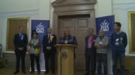 London results 3 ENGLAND London Various INT KINGSTON declaration speech and interview Ed Davey SOT