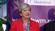 London results 3 MAIDENHEAD declaration and speech Theresa May SOT