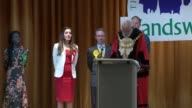 London results 3 TOOTING declaration and speech Dr Rosena Allin Khan SOT