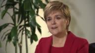 Nicola Sturgeon interview SCOTLAND Perth INT Nicola Sturgeon MSP interview SOT re SNP manifesto launch