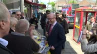 Paul Nuttall in Dagenham ENGLAND Essex Dagenham EXT Paul Nuttall MEP from UKIP battlebus / along with Peter Harris to chat with campaigners / past...
