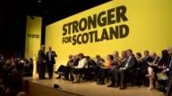 SNP Manifesto launch SCOTLAND Perth INT Various arrivals Pete Wishart introduction SOT Angus Robertson speech SOT
