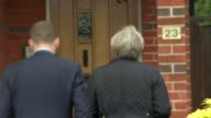Theresa May campaigning in Southampton Prime Minister Theresa May meeting local residents outside houses and knocking on doors SOT