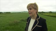 Theresa May campaigns in Edinbugh EXT Nicola Sturgeon MSP from SNP helicopter Nicola Strugeon with small child Nicola Sturgeon MSP interview SOT Tory...