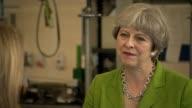 Theresa May interview ENGLAND Somerset Bath INT Theresa May interview SOT