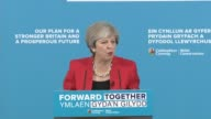 Theresa May launches Welsh Conservatives manifesto Theresa May speech SOT re Welsh Conservative manifesto Brexit negotiations