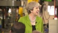 Theresa May speech in Bath ENGLAND Somerset Bath INT Theresa May arriving and speech SOT