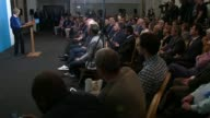 Theresa May speech in Wolverhampton Cutaways ENGLAND West Midlands Wolverhampton INT CUTAWAYS of Theresa May arriving and giving speech SOT /...