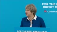 Theresa May speech in Wolverhampton ENGLAND West Midlands Wolverhampton INT Theresa May arriving and speech SOT
