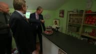 Tim Farron visits care home in Cheadle ENGLAND Greater Manchester Cheadle INT Tim Farron visiting care home