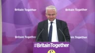 UKIP Economic spokesman press conference Patrick O'Flynn MEP press conference and question and answer session SOT
