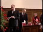 Labour budget proposals ENGLAND London LMS John Smith and Neil Kinnock through audience at pkf PAN RL MS KinnockSmith Jack Cunningham and Margaret...