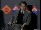 David Owen press conference on nuclear arms ENGLAND London National Liberal Club INT Dr David Owen on stage Dr David Owen speaking to press SOT For...