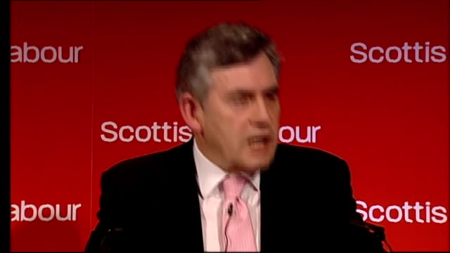 Gordon Brown speech to Scottish Labour spring conference Gordon Brown MP speech SOT And I don't need to tell anybody here that our country was...