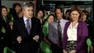 Gordon Brown visits Asda supermarket Gordon Brown QA session with Asda staff continued SOT