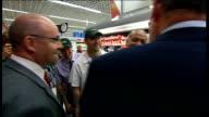 Gordon Brown visits Asda supermarket Gordon Brown chatting with Asda staff