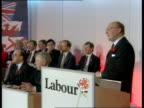 Labour / Tory manifestos launched CMS Neil Kinnock pkf SOF Britain needs Govt with sense of purpose and direction / Refuse to give impression that...