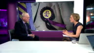 Stuart Wheeler helps fund UKIP campaign ENGLAND London GIR INT Stuart Wheeler LIVE STUDIO interview SOT On possibility of Nigel Farage being in next...