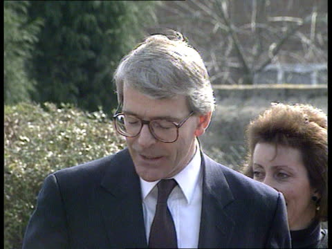 General Election the Conservative campaign IN AIR John Major on aircraft en route Lincolnshire PULL OUT to others on plane MS Members of press and...