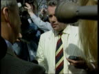 Neil Hamilton ITN ENGLAND Cheshire Tatton Neil Hamiltion along with wife Christine with press around to confront antisleaze candidate Martin Bell at...