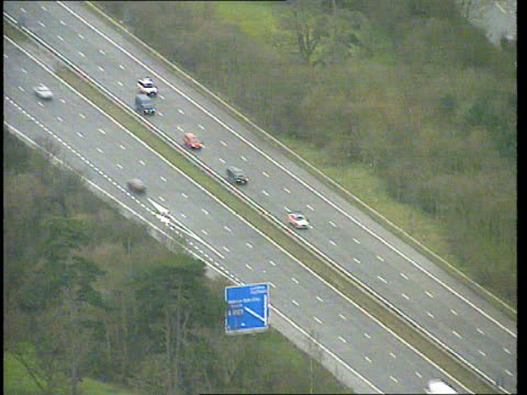 A1 Road Convoy of cars taking Former Chilean Dictator General Augusto Pinochet to military airbase in Lincolnshire for flight home to Chile