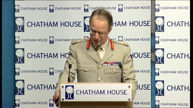 General Sir David Richards speech at Chatham House General Sir David Richards speech SOT In the 1920s as an example Basil LiddellHart and Boney...