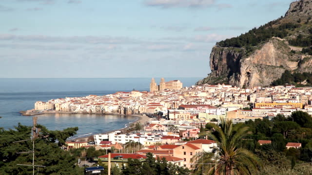 General view of Cefalu in Sicily, Italy.
