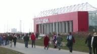 General view of fans arriving at Coface Arena Mainz home stadium 1 FSV Mainz 05 v Bayer 04 Leverkusen Bundesliga on March 09 2013 in Mainz Federal...