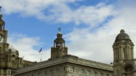 General view of Liverpool's famous Royal Liver Building and Port of Liverpool Building on August 14 2017 in Liverpool England