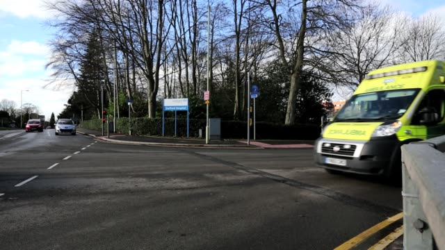 A general view of Stafford Hospital's entrance on the day that Robert Francis QC Publishes His Inquiry Into Mid Staffordshire Hospital on February 6...