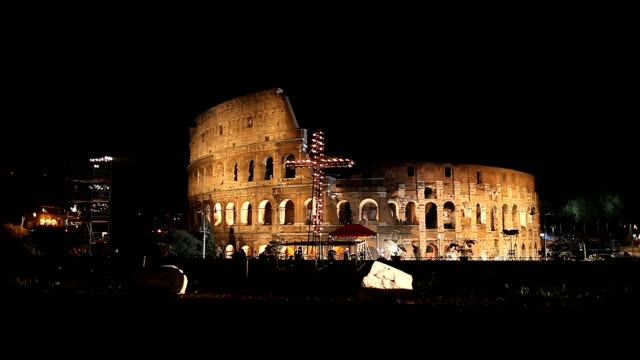General view of the Colosseum during Way of the Cross Procession in Rome Italy on April 6 2012 ATMOSPHERE A General view of the Colosseum during on...