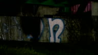 General views of Bristol General views of bridge at night / graffiti on bridge / shadow of person along near bridge / shoe lying on grass / shadow of...