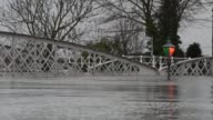 General Views of Cawood and Cawood Bridge which crosses the River Ouse on December 28 2015 in Cawood England Heavy rain over the Christmas period has...